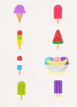 夏日冰棒设计图案