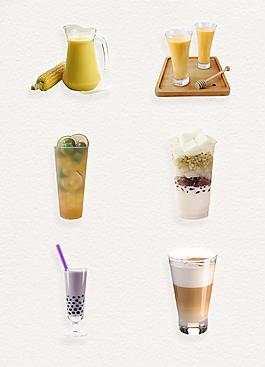 清凉奶茶饮品产品实物素材