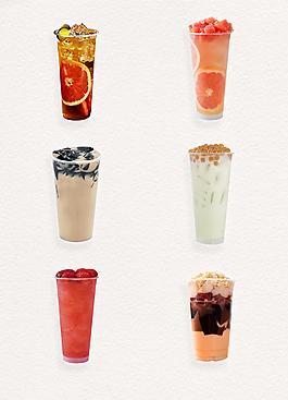 高清奶茶水果茶产品实物