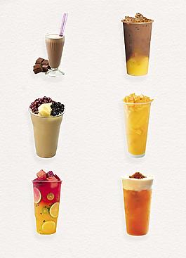 夏季冷饮饮料实物图