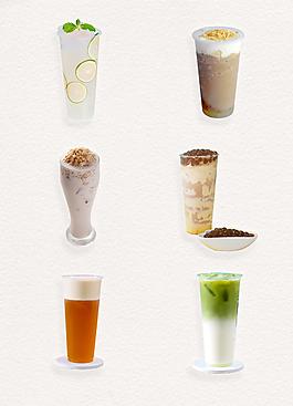 美味夏日奶茶系列产品实物