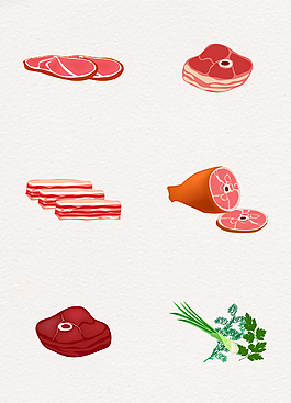 6款新鲜食材卡通素材