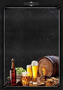 清涼麥香啤酒廣告背景