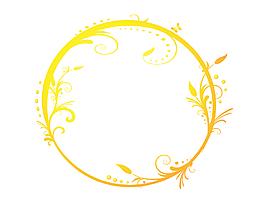 卡通黃色漸變花紋幾何元素