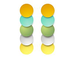 簡約彩色漸變圓圈元素