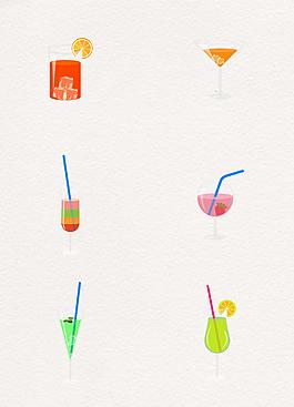 6款简约果汁饮料设计素材