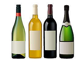 贵重美味酒瓶矢量元素