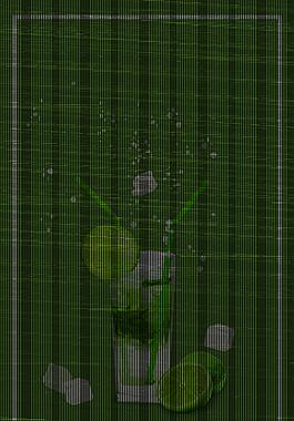 綠色矢量簡約夏季果汁飲品海報背景