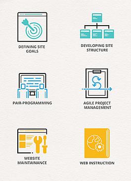 扁平簡約互聯網編程開發設計元素