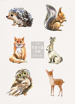 手繪卡通可愛動物