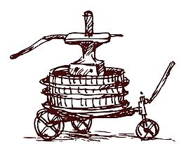 卡通簡約小推車機械元素