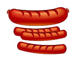 卡通花刀香腸肉腸元素