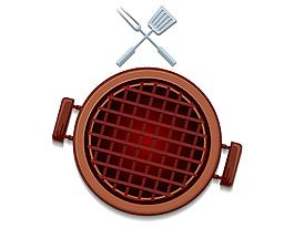 俯瞰燒烤架矢量元素