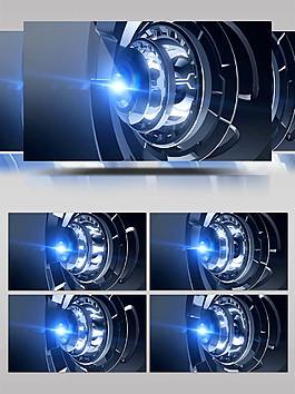 科技感科幻场景背景循环视频