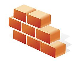 矢量砖块元素