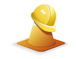 矢量黃色安全帽元素