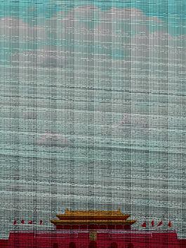 扁平化天安门海报背景