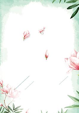 簡約古風素雅彩繪月季花夏日背景