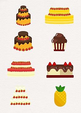 水彩水果生日蛋糕設計