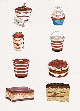 線條奶油巧克力點心設計