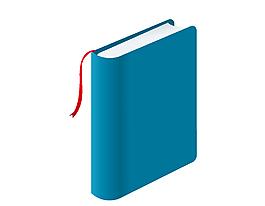 蓝色笔记本矢量图