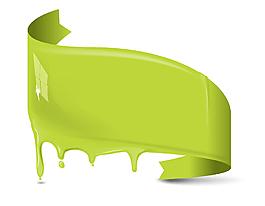 手繪綠色葉子元素