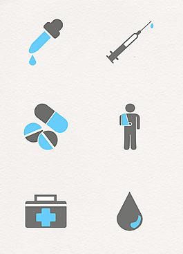 醫療健康圖標矢量圖