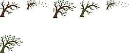 棕色傾斜樹干矢量素材