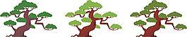 绿色渐变景观树木矢量素材