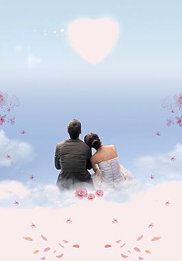七夕约会的浪漫情侣背景素材