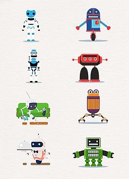 生活彩色可愛機器人