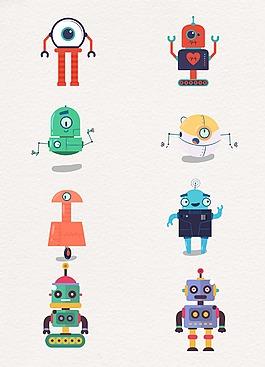 大眼睛可愛機器人設計