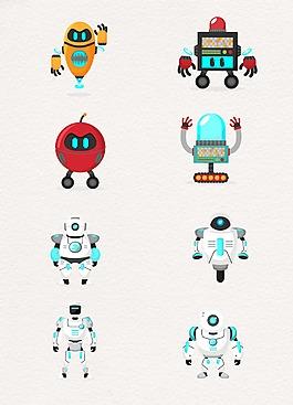 科技白色機器人