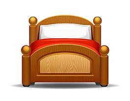卡通木頭床