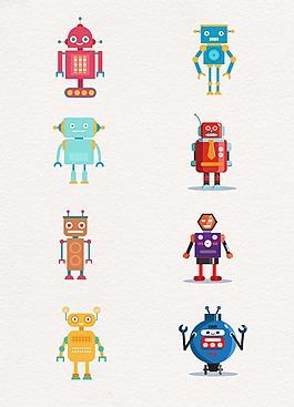 小清新淡色設計機器人