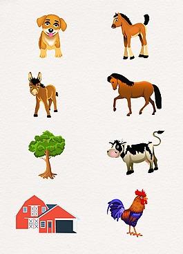 呆萌卡通可爱动物设计