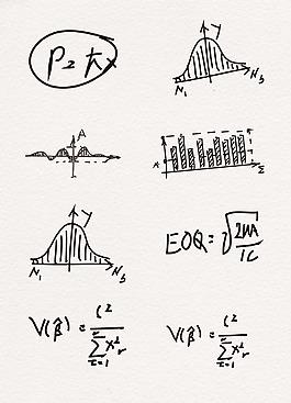 数学手绘设计图案