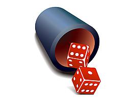 矢量紅色骰子元素