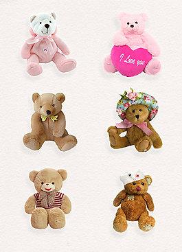 實物玩具小熊透明免扣素材