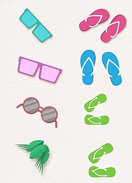 眼鏡鞋子卡通設計