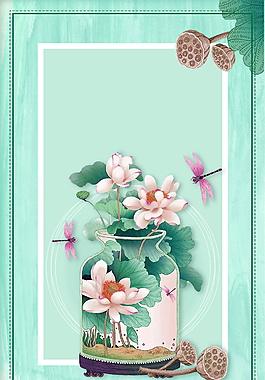 雅致清新花瓶广告背景