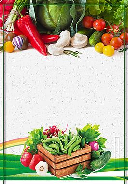 有机蔬菜质量保证背景
