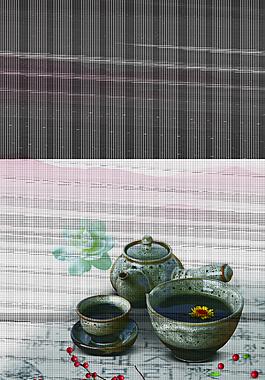 中國風茶背景素材
