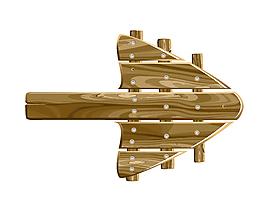 醒目木板指示箭頭矢量圖