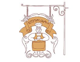 卡通手繪面包房標志矢量素材
