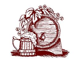 手繪紅酒木桶矢量素材