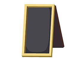 卡通长方形相框矢量元素