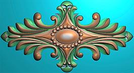 欧式木门贴洋花精雕jdp雕刻文件