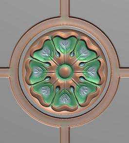 中式木门雕花文件jdp三朵花花开富贵