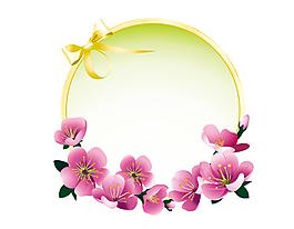 卡通黃色線條花朵元素